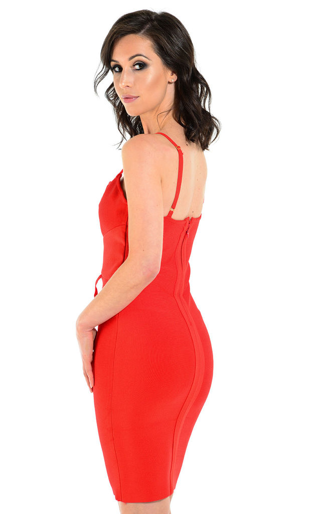 Scarlett red celebrity bandage dress by The Cult Boutique