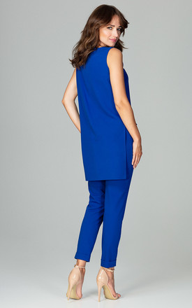 Blue a Sleeveless Blouse With Trousers Co-ords by LENITIF
