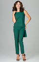 Green a Sleeveless Blouse With Trousers Co-ords by LENITIF