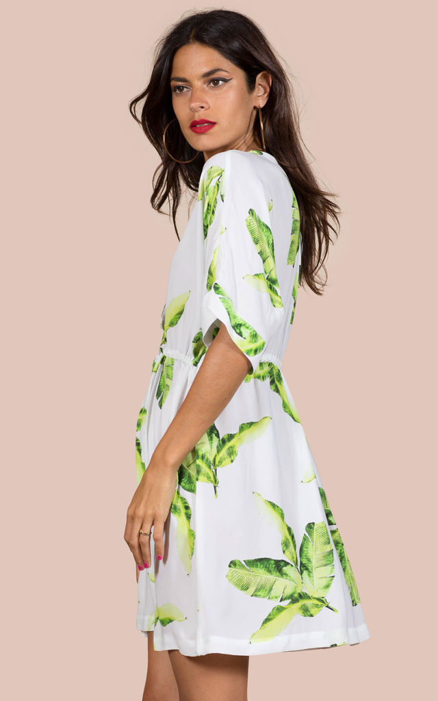 'EXCLUSIVE' COCO LOCO DRESS IN WHITE PALM image