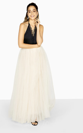 Cream Maxi Tulle Wedding Bridesmaid Skirt by LITTLE MISTRESS