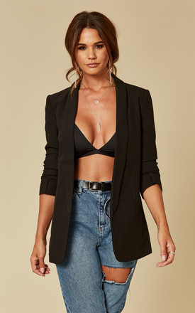 Black Long Line Blazer by Pieces