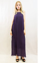 Sleeveless Pleated Full Length Maxi Dress in Dark Purple by CY Boutique