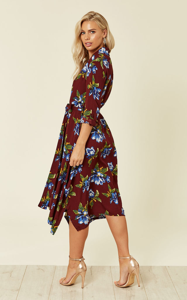 Summer Dress Floral Print in Brown by Zibi London