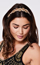 Eliza Flapper Headband in Gold by Gatsbylady London