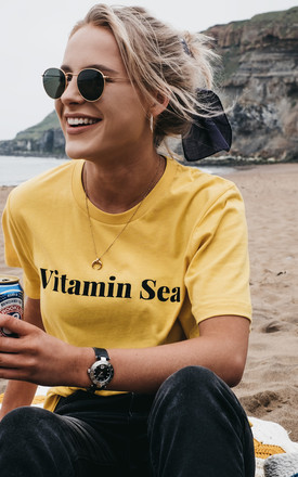 'Vitamin Sea' T-Shirt in Yellow by ART DISCO
