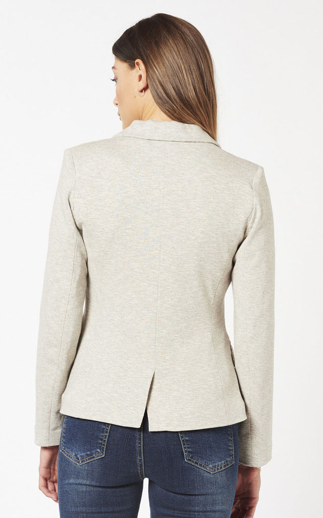 Knitted Grey Marl Blazer by Two For Joy