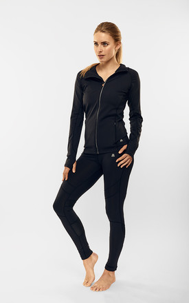 Black Performance Active Jacket by Calmia