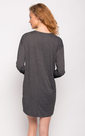 Pure Cotton Long T-shirt Dress Basic Style by CY Boutique