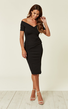 Bardot Off Shoulder Dress Black b9771fa55