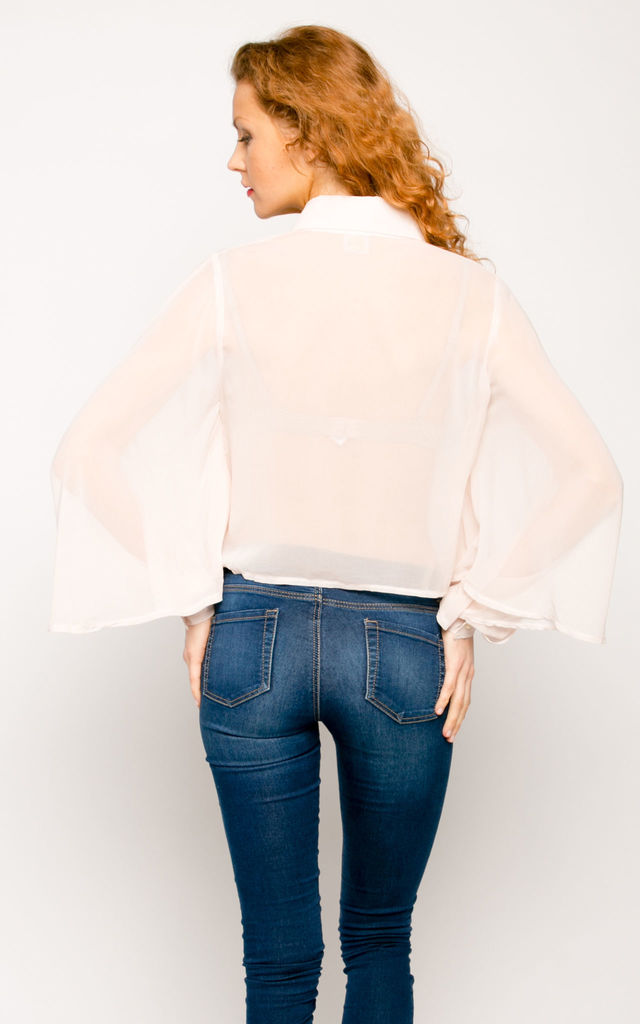 Butterfly sleeves design shirt top by CY Boutique