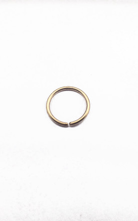 9ct Yellow Midi hoop earring by Rebekah Ann Jewellery