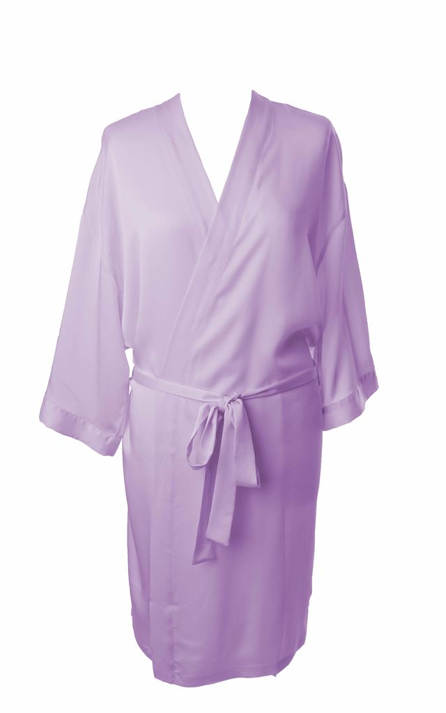 Bridesmaid / Bride / Hen Dressing Gown - Lilac by Matchimony