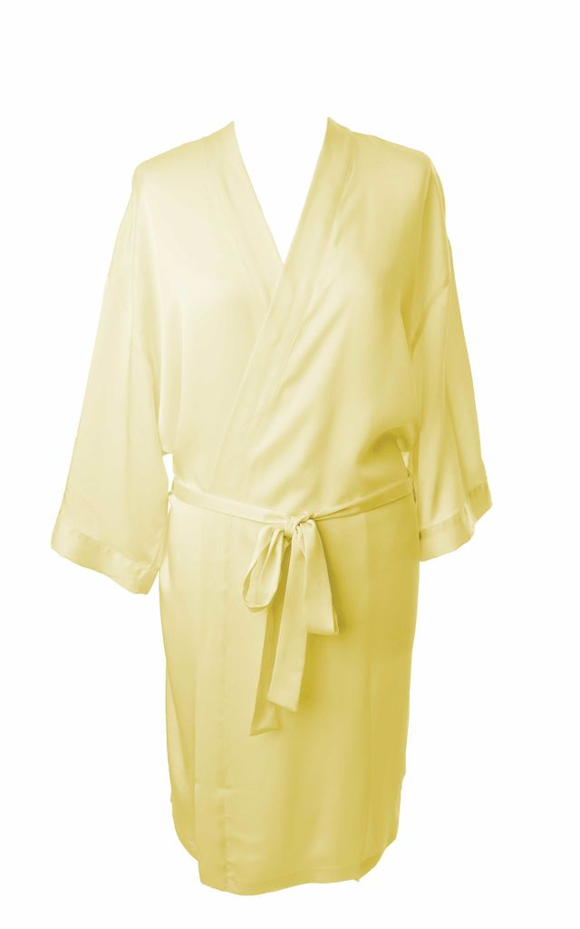 Bridesmaid / Bride / Hen Dressing Gown - Lemon by Matchimony