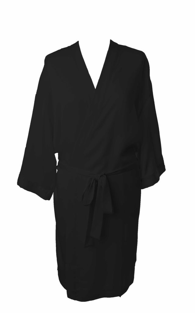 Bridesmaid / Bride / Hen Dressing Gown - Pure Black by Matchimony