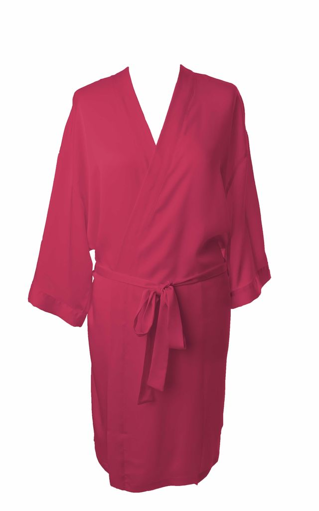 1c9dde0e5e ... Bridesmaid   Bride   Hen Dressing Gown - Bright Pink by Matchimony ...
