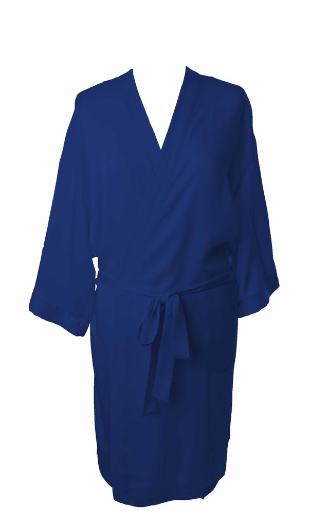 Bridesmaid / Bride / Hen Dressing Gown - Royal Blue by Matchimony