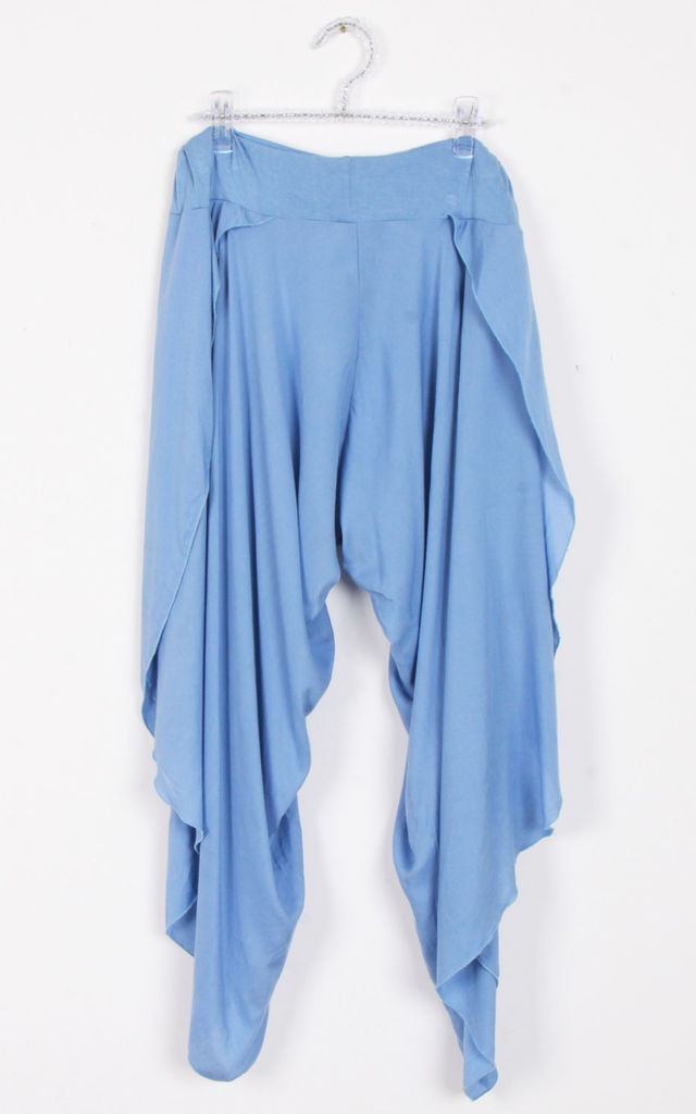 Light Blue Split Side Harem Pant Trousers by Urban Mist