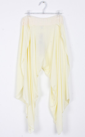 Lemon Split Side Harem Pant Trousers by Urban Mist