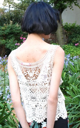 Classic Floral Crochet Lace Vest Top by CY Boutique