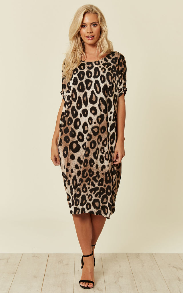 ... Leopard Print Midi Dress by DIVINE GRACE ... 932905820