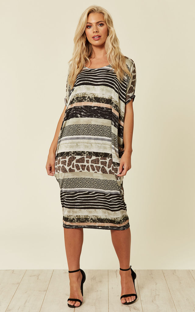 ... Multiple Animal Printed Midi Dress by DIVINE GRACE ... 17539050b