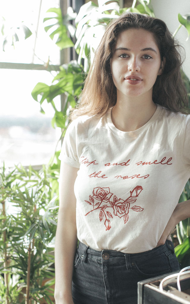 Stop and Smell the Roses t-shirt by Coco Roses Apparel