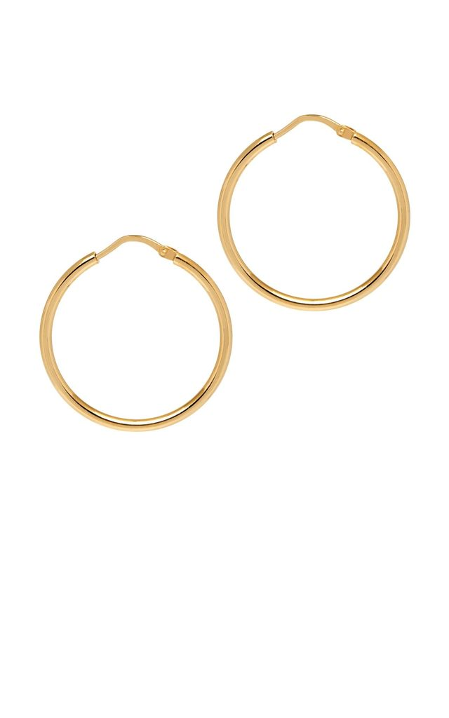 La Chica Latina Small Hoop Earrings, 27mm, Gold by THE HOOP STATION