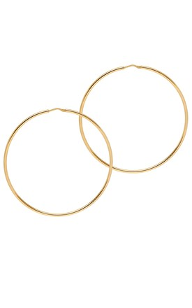 La Chica Latina Large Hoop Earrings, 63mm, Gold by THE HOOP STATION