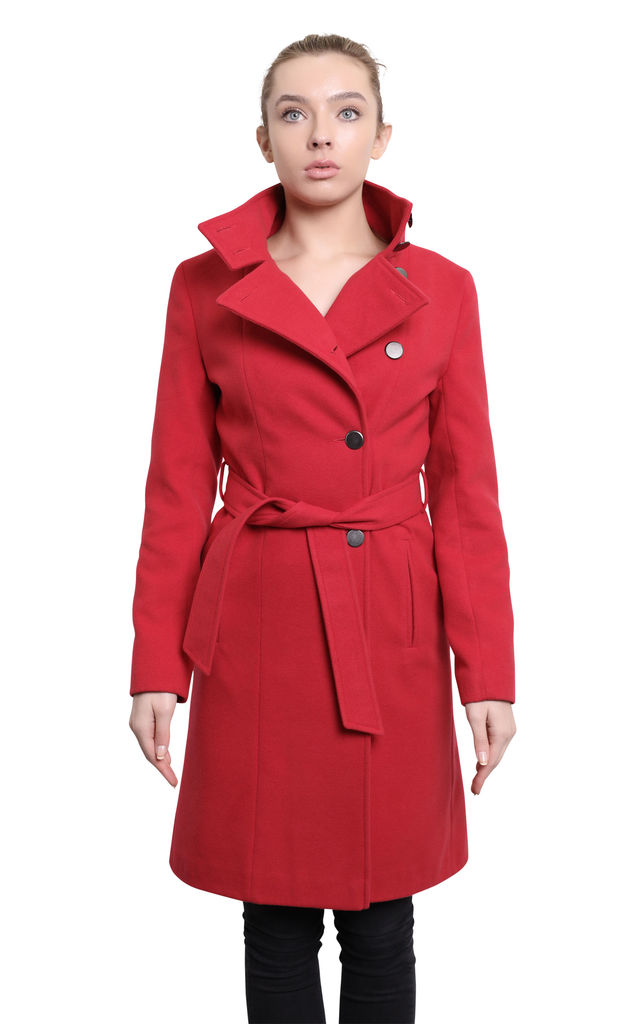 Bianca Red Keep It Simple Coat by De La Creme Fashions