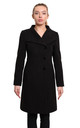 Veronica Black Funnel Neck Button Down Coat by De La Creme Fashions