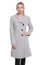 Veronica Silver Funnel Neck Button Down Coat by De La Creme Fashions