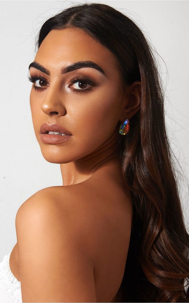 Holographic Teardrop Earrings by The Fashion Bible