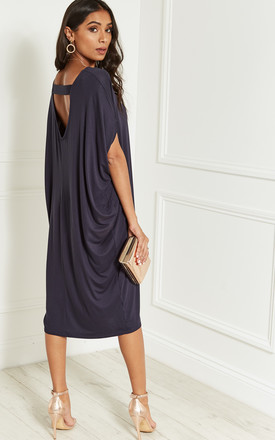 Navy Scoop Back Dress 74bb9a178