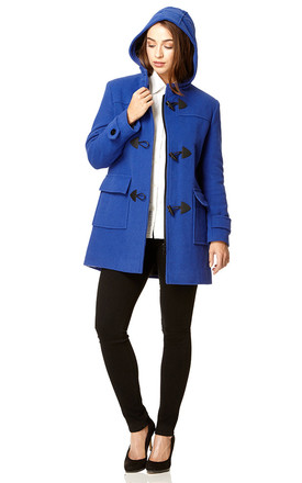 Andrea Royal Blue Duffle Coat by De La Creme Fashions Product photo