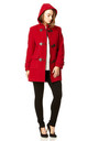 Andrea Red Duffle Coat by De La Creme Fashions