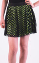 Mesh Summer Mini Skirt in Green/Black by CY Boutique