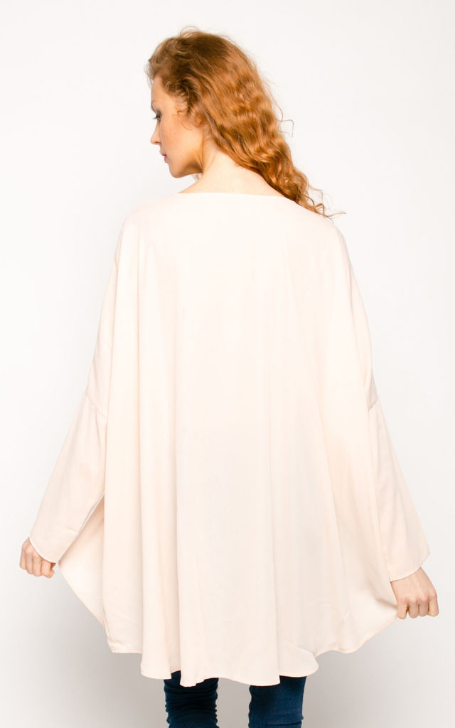 Holiday relax nede color oversized kaftan top by CY Boutique