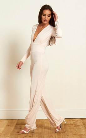The Selina Jumpsuit in Ivory by Gorgeous Couture