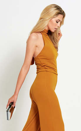 The Aurora Jumpsuit in Golden Yellow by Gorgeous Couture