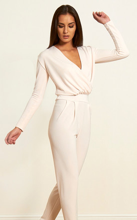 The Paige Jumpsuit in Ivory by Gorgeous Couture