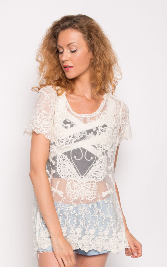 Floral crochet summer top by CY Boutique