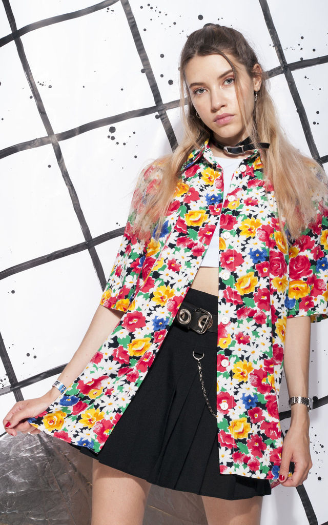 90s vintage shirt in multicolour daisy flower print by Pop Sick Vintage