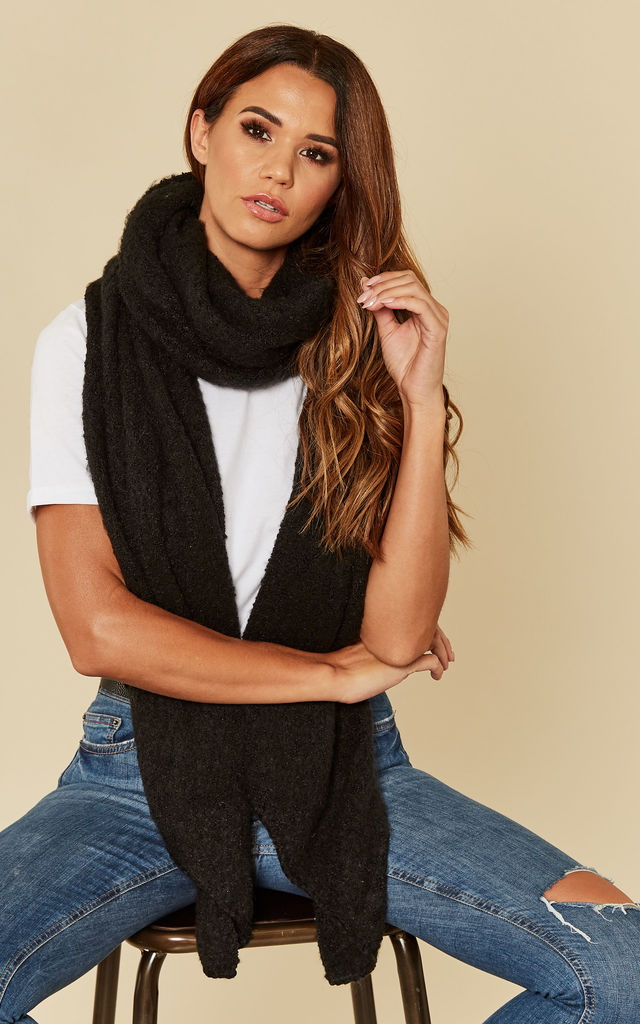 Black Long Scarf by Pieces