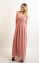 Strappy Chiffon Sweetheart Maxi Dress in Nude by CY Boutique