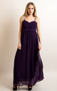 Strappy Chiffon Sweetheart Maxi Dress in Purple by CY Boutique