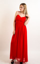 Strappy Chiffon Sweetheart Maxi Dress in Red by CY Boutique
