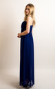 Strappy Chiffon Sweetheart Maxi Dress in Royal Blue by CY Boutique