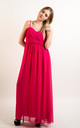 Strappy Chiffon Sweetheart Maxi Dress in Pink by CY Boutique