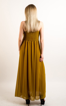 Strappy Maxi Dress with Sequin Embellished Waist in Yellow by CY Boutique